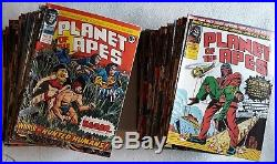 112 Consecutive Issues 1974 76 Marvel UK Planet of the Apes Comics # 2 113