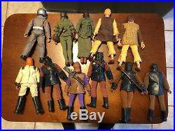11 Original Planet of the Apes 7 8 Action Figures / Dolls by MEGO 1970s Lot