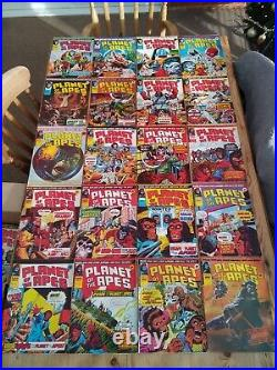 122x Planet Of The Apes Marvel UK Comics 1970's Issues #2 #123 Job Lot