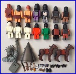 14 PLANET OF THE APES Medicom Kubrick Figures Lot humans horses accessories