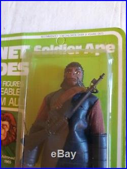1967 1973 Planet Of The Apes SOLDIER APE Rare MOC Mint On Card UNPUNCHED