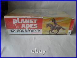 1967 Addar Planet of the Apes Stallion & Soldier Apjac Model Kit #107 USA Aurora
