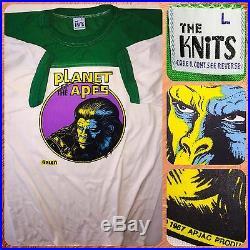 1967 Apjac Planet Of The Apes Cartoon War For Movie 70's Galen nos Vtg T-Shirt