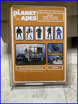 1967 Mego PLANET OF THE APES Action Figure DR. ZAIUS Open W Repro Card IN CASE