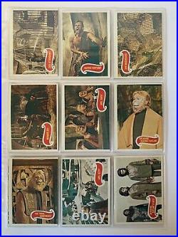 1967 Planet Of The Apes Complete Set Of Green Back Cards Rare