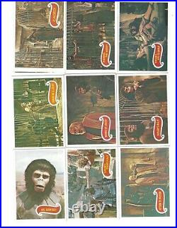 1967 Topps PLANET OF THE APES Green Backs Complete Set of 44 Trading Cards