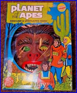 1968 Ben Cooper Planet Of The Apes Halloween Costume WARRIOR LARGE 12 14