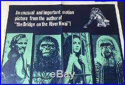 1968 ORIGINAL UK FILM POSTER PLANET OF THE APES CHARLTON HESTON, RODDY McDOWALL