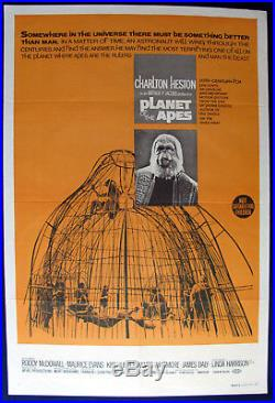 1968 Planet of the Apes Australian One Sheet Movie Poster