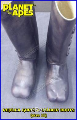 1968 Planet of the Apes Gorilla Soldier BOOTS (REPLICA) (cosplay)