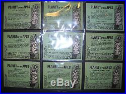 1969 Planet Of The Apes (green Backs) Complete Card Set Nmmt Topps