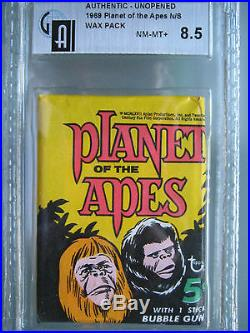 1969 Planet of the Apes Color Photos Wax Pack 5 Cent GAI 8.5 NM-MT+