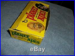 1969 Topps Green Back Planet Of The Apes Pota Empty Wax Pack Display Card Box