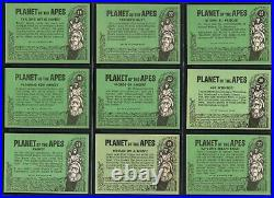 1969 Topps PLANET OF THE APES Green Backs Complete Set of 44 Trading Cards NICE