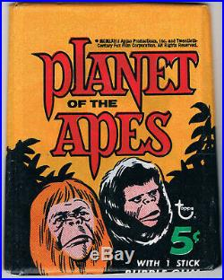 1969 Topps Planet of the Apes Greenback Wax Pack