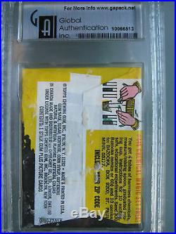 1969 Topps Planet of the Apes Wax Pack Graded GAI 8.5 Rare Color Photo Cards