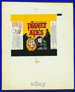 1969 Topps Planet of the Apes Wrapper Proof 1968 The Topps Vault 1/1