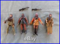 1970'S 4 Mego PLANET of the APES Action figures 8 Type-2 body Vintage Lot of 4