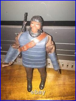 1972 Mego planet of the apes silver soldier ape, very rare htf