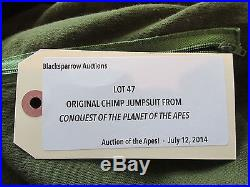 1972 Planet Of The Apes Chimpanzee Jumsuit From Conquest Of The Planet Of T +coa