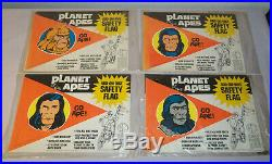 1974 Lot Set 4 PLANET OF THE APES Add-On-Bike SAFETY FLAG UNUSED