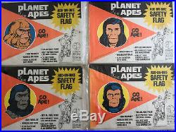 1974 Lot Set 4 Planet of the Apes Add-On-Bike Safety flag-unused sealed in pkg
