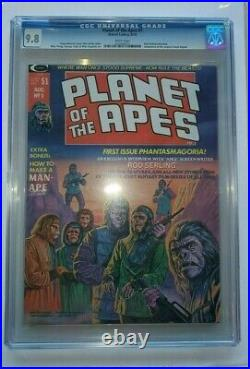 1974 Planet Of The Apes #1 Cgc Graded Marvel Comic Book 9.8 White Pages