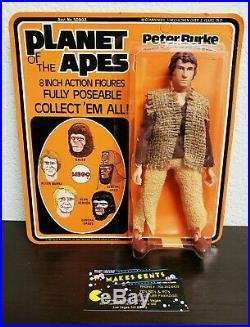 1974 Planet Of The Apes Peter Burke MEGO Unpunched NEW ON CARD! SUPER CLEAN