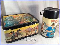 1974 Planet Of The Apes vintage metal lunch box with thermos bottle