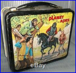 1974 Planet of the Apes Metal Lunch Box TV Show Beautiful Lunchbox! Excellent +