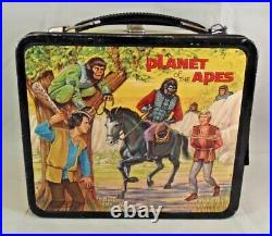1974 Vintage Aladdin Planet Of The Apes Lunchbox & Thermos Wow See Pics