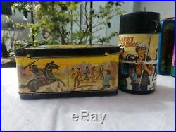 1974 Vintage Planet Of The Apes Metal Lunchbox, Great Addition, with Thermos