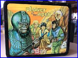 1974 Vintage Planet Of The Apes Metal Lunchbox With Thermos
