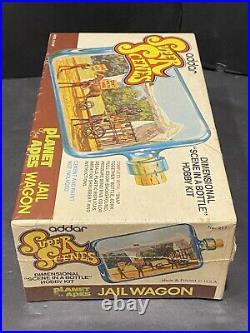 1975 Planet Of The Apes Addar Super Scenes Jail Wagon Model Kit Sealed