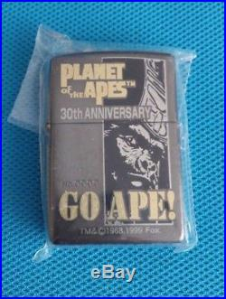 1999 Planet of the Apes 30th Anniversary limited edition Zippo lighter rare