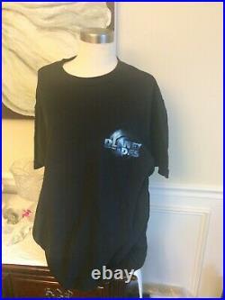 2001 PLANET OF THE APES RULE THE PLANET XL DELTA 100% COTTON men's black shirt