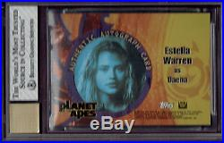 2001 Topps Planet Of The Apes Movie Estella Warren As Daena Autograph Auto Bgs 8