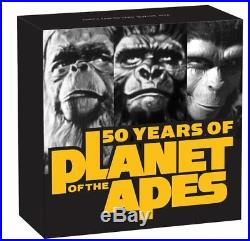 2018 PLANET OF THE APES 2oz ANTIQUE Silver Coin