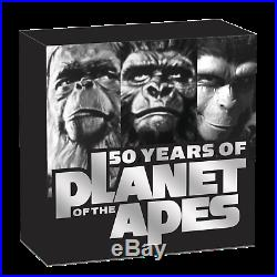 2018 Planet of the Apes 50th Anniversary SILVER PROOF $1 1oz COIN NGC PF70 UC FR