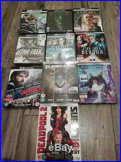 4k HDR blu ray job lot star trek, planet of the apes, Deadpool 2 & more. READ