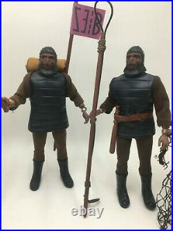 7 Custom Vintage Planet Of The Apes Figures Lot The Hunt Read Before Buy