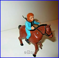 AZARAK HAMWAY AHI PLANET OF THE APES ZAIUS ON HORSE WIND-UP- Vintage 70's -RARE