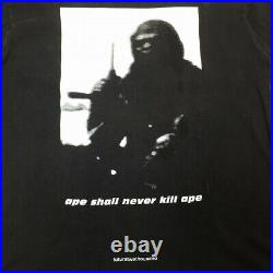 A BATHING APE × futura2000 T-Shirt PLANET OF THE APES Black Cotton Size L Used