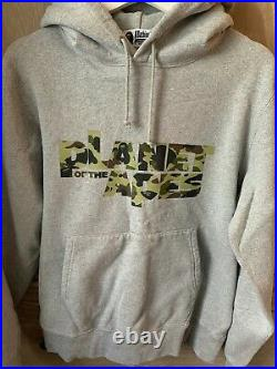 A Bathing Ape Bape Hoodie L Large Planet of the Apes Grey rare hooded sweatshirt