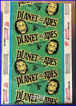 A&bc gum Planet of the Apes 1960s wax bubble gum wrapper Empty Scarce