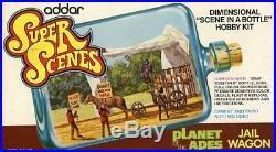 Addar Super Scenes Planet of the Apes c in a Bottle Plastic Diorama Kit #217U