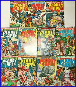 Adventures On The Planet Of The Apes#1-11 Vf Lot 1975 Marvel Bronze Age Comics