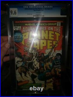Adventures On The Planet Of The Apes 1 Cgc 9.6 White Pages Buckler Marvel Comics