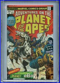 Adventures On The Planet Of The Apes 1 (oct 1975) Marvel Cgc 9.6 Nm+ White Pages