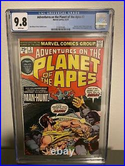 Adventures On The Planet Of The Apes #3 CGC 9.8 NM/MT Marvel 1975